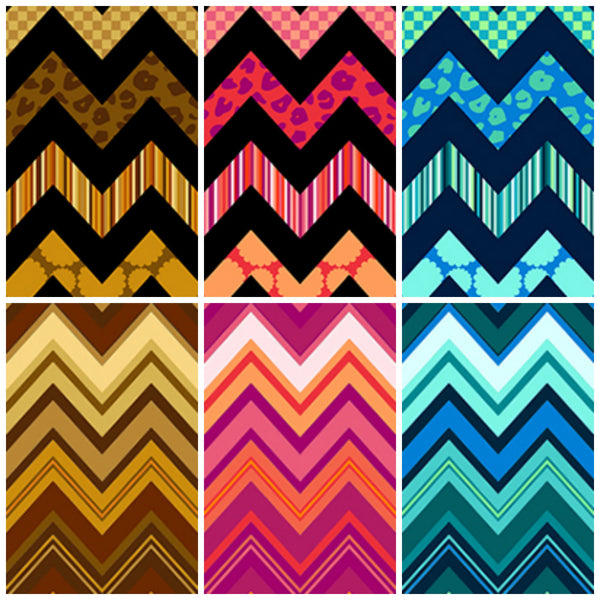 Chevron Chic by Studio 8 - Patterned Chevron Navy Aqua (22719-NQ)