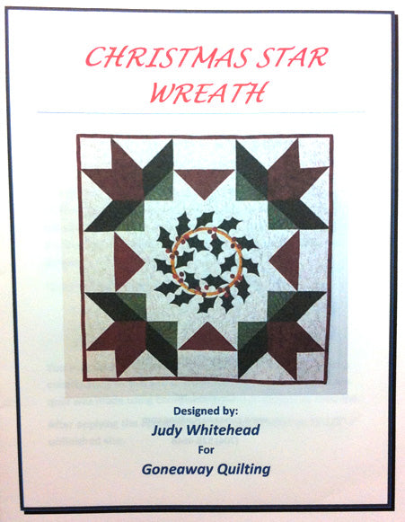 Pattern - Christmas Star Wreath by Judy Whitehead