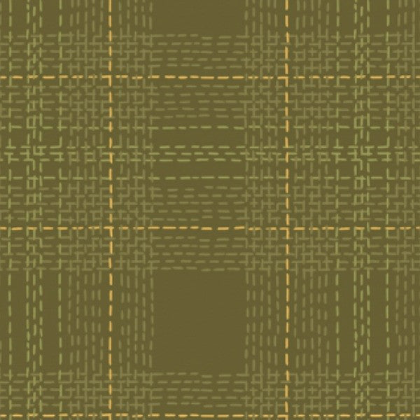 Dear Stella Fabrics by Dear Stella Fabrics - Dash Plaid in Moss FLANNEL (STELLA-FRR769MOS)