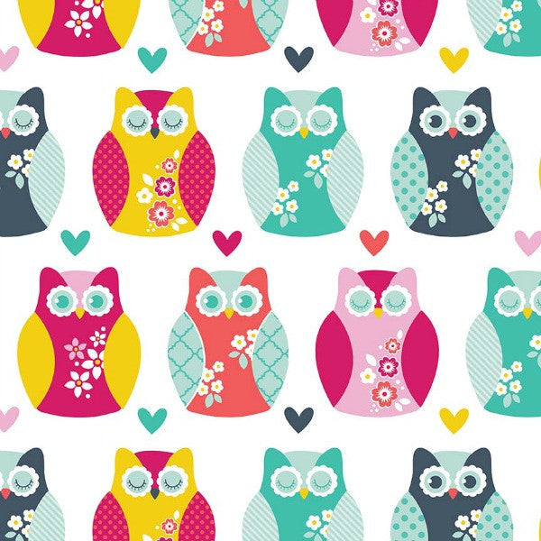 Alpine Fabrics by Carly Griffith - Owls in Multi FLANNEL (F2119-MULTI)