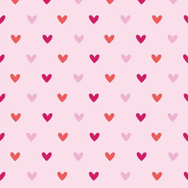 Alpine Fabrics by Carly Griffith - Hearts in Pink FLANNEL (F2120-PINK)