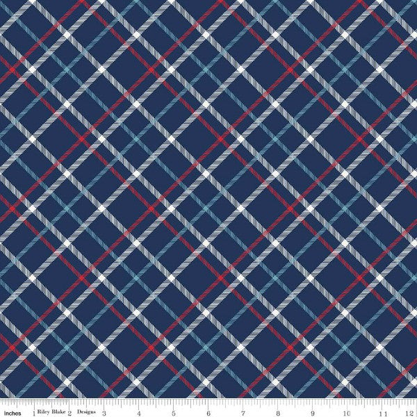 Alpine Fabrics by The RBD Designers - Plaid in Navy FLANNEL (F5135-NAVY)
