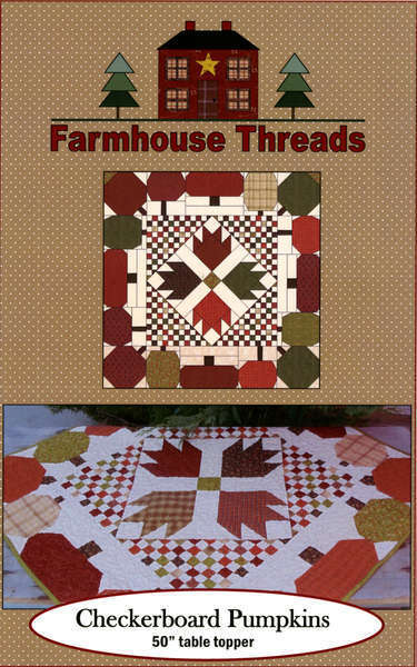 Pattern - Checkerboard Pumpkins by Farmhouse Threads