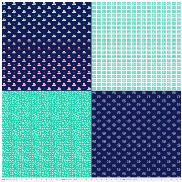 A Little Sweetness by Tasha Noel - Fat Quarter Panel in Navy (C6511-NAVY)