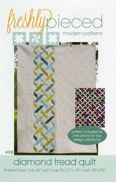 Pattern - Diamond Tread Quilt by Freshly Pieced
