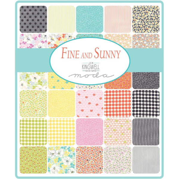 Fine and Sunny by Jen Kingwell - Ivy in Mango Cream (18174-19)
