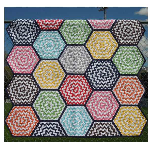 Pattern - Hexagon Chevron by Nellie's Needle Quilt Patterns (NN-327)