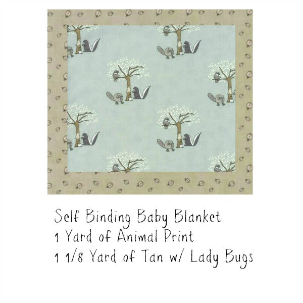 Self Binding Baby Blanket Kit