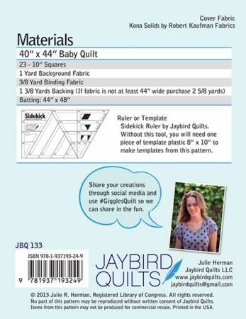Pattern - Giggles by JayBird Quilts
