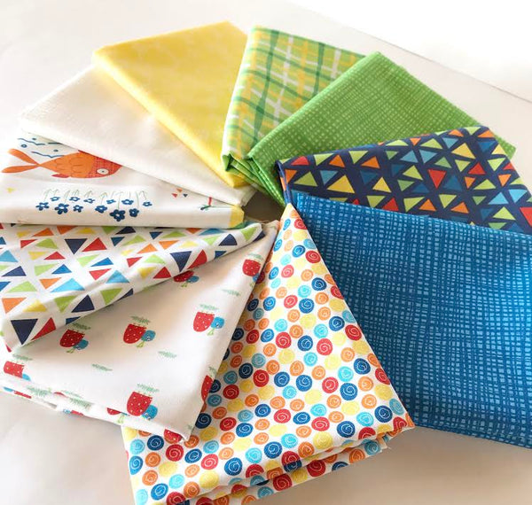 Later Alligator by Sandy Gervais - Fat Quarter Bundle No 1