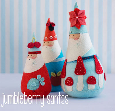 Pattern - Jumbleberry Santas by May Blossom Designs
