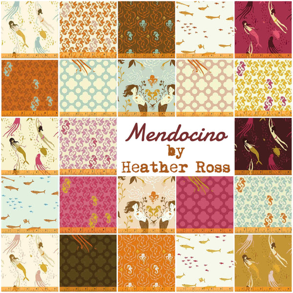Mendocino by Heather Ross - Mermaids in Blush Pink (40944-3)