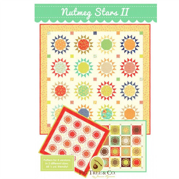 Pattern - Nutmeg Stars II by Fig Tree and Co