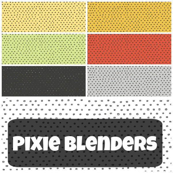 Pixie Square Dot Blender by Ink & Arrow Fabrics - Square Dot in Charcoal (24299-K)