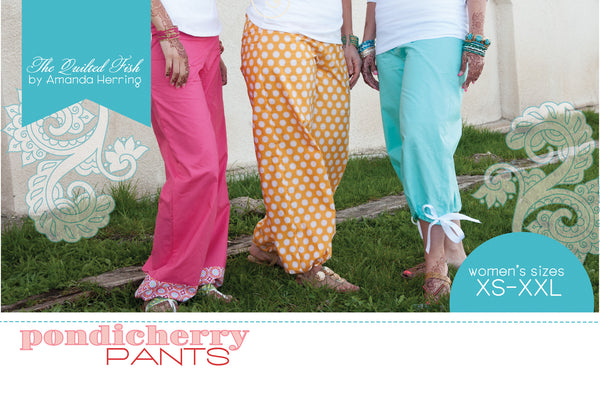 Pattern - Pondicherry Pants by Quilted Fish