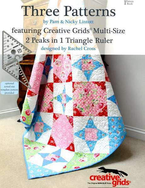 Book - Three Patterns Book 1 - 2 Peaks in 1 Triangle Ruler by Pam and Nicky Lintott