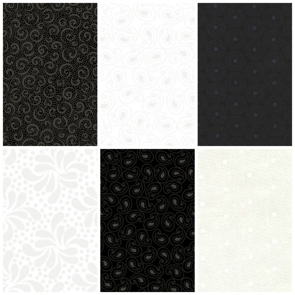 Quilting Illusions by Quilting Treasures - Tonal Dottie Rings Black (22626-J)