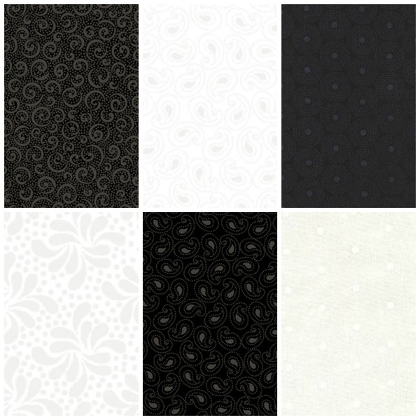 Quilting Illusions by Quilting Treasures - Tonal Paisley Black  (21519-J)