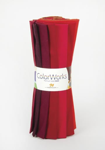 ColorWorks by Northcott - Spicy Fat Quarter Roll (R9000-25)