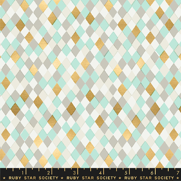 Flurry by Kimberly Kight - Gift Wrap in Mint Metallic (RS5032-11M)