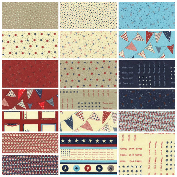 Red White Free by Sandy Gervais - Red Labels Quilt Panel (17801-13)