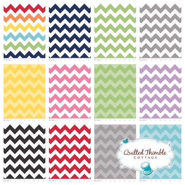 Chevrons by Riley Blake Designs - Medium Aqua Tonal (C380-24)