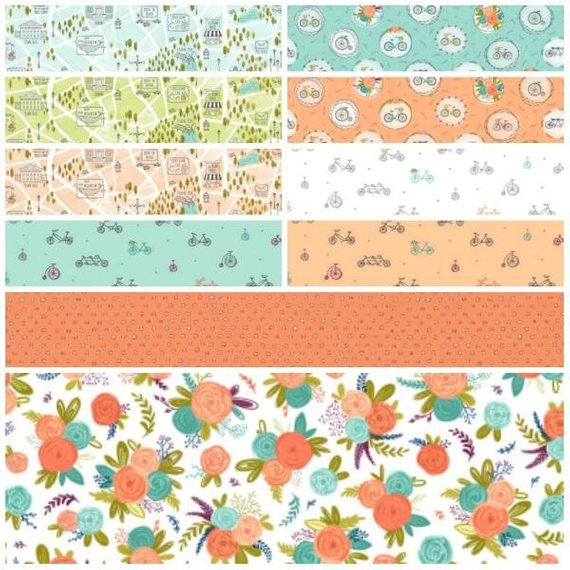 Scenic Route by Alicia Jacobs Dujets for Ink & Arrow Fabrics - Fat Quarter Bundle No 1