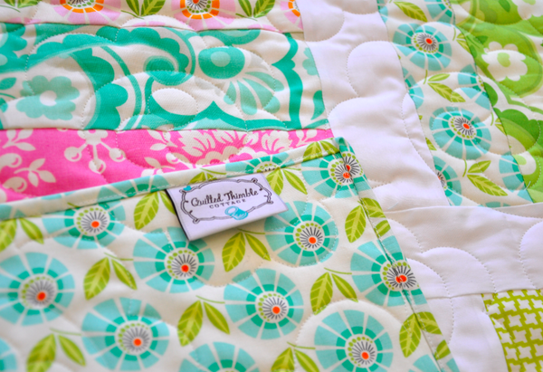 Up Parasol Baby Quilt