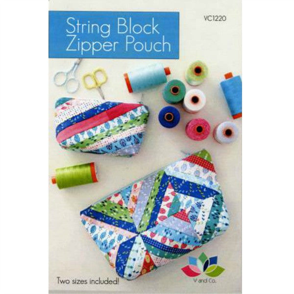 Pattern - String Block Zipper Pouches by V and Co (VC-1220)