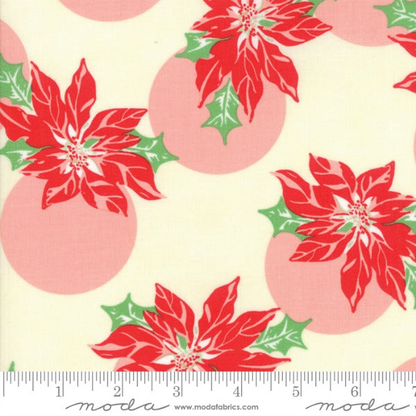 Swell Christmas by Urban Chiks - Poinsettia in Pink and Red (31121-11)