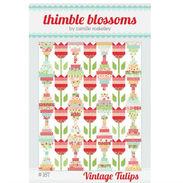 Pattern - Vintage Tulips by Thimble Blossoms