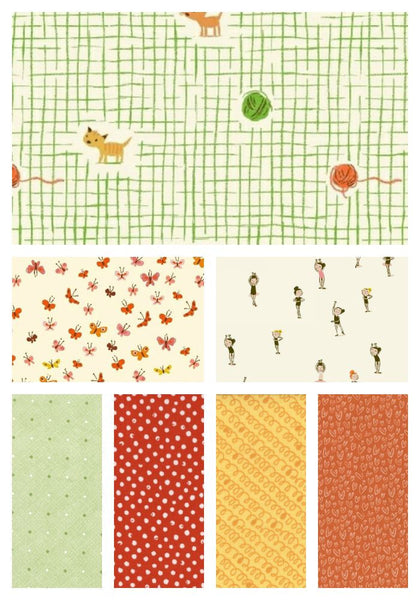 Tiger Lily by Heather Ross - Fat Quarter Bundle 1