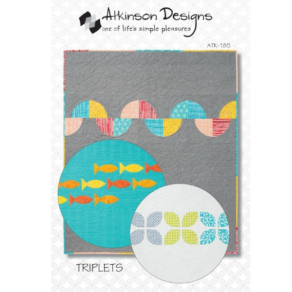 Pattern - Triplets by Atkinson Designs (ATK-185)
