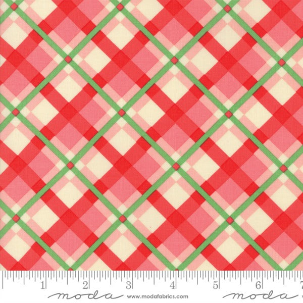 Swell Christmas by Urban Chiks - Plaid in Pink and Red (31122-15)