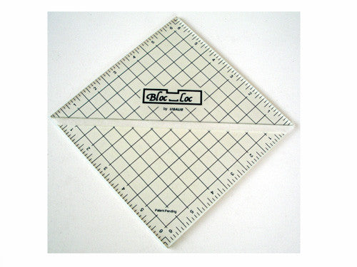 Ruler - Half-Square Triangle Square Up Ruler by Bloc Loc