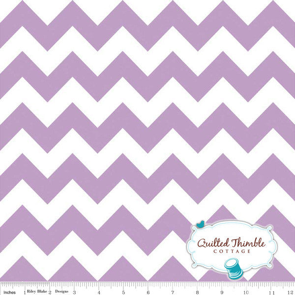 Chevrons by Riley Blake Designs - Medium Lavender (C320-120)