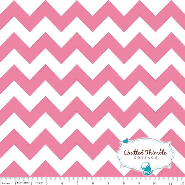 Chevrons by Riley Blake Designs - Medium Hot Pink (C320-70)