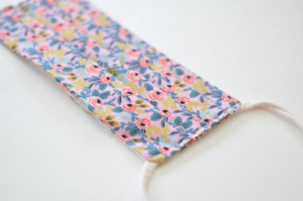 Face Mask - Rifle Paper Co in Pink Print