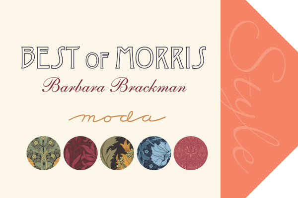 Best of Morris by Barbara Brackman - Chrysanthemum in Red (8115-25)