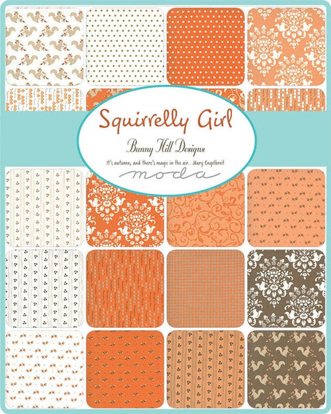 Squirrelly Girl by Bunny Hill Designs - Mad for Plaid in Pumpkin (2978-15)