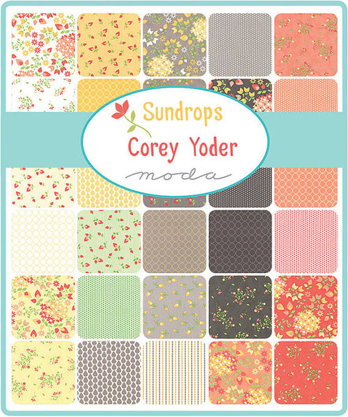 Sundrops by Corey Yoder - Raindrops in Coral (29013-26)