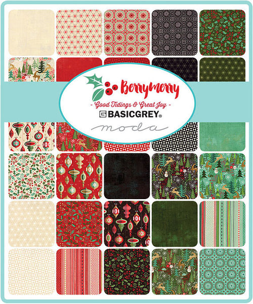 Berry Merry by BasicGrey - Quilt Block in Mint (30476-17)