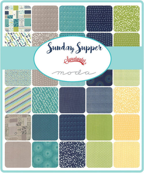 Sunday Supper by Sweetwater - Porcelain Crosses in Teal and Blue (5657-27)