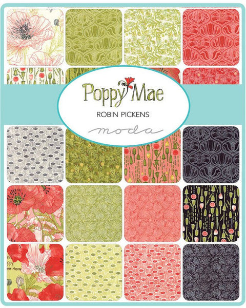 Poppy Mae by Robin Pickens - Ogee in Charcoal (48601-16)