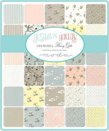 Hushabye Hallow by Lydia Nelson - Woodland Scene in Cloud BRUSHED COTTON (49101-11B)