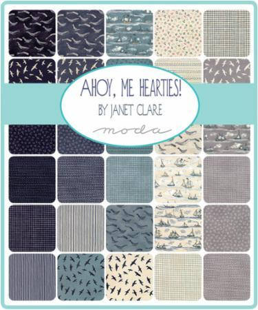 Ahoy Me Hearties by Janet Clare - Charm Pack (1430PP)