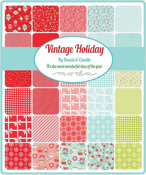 Vintage Holiday by Bonnie and Camille - Bias Candy Stripes in Red (55168-11)