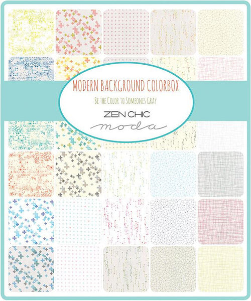 Modern Background Colorbox by Zen Chic - Periwinkle on White Pluses (1644-13)