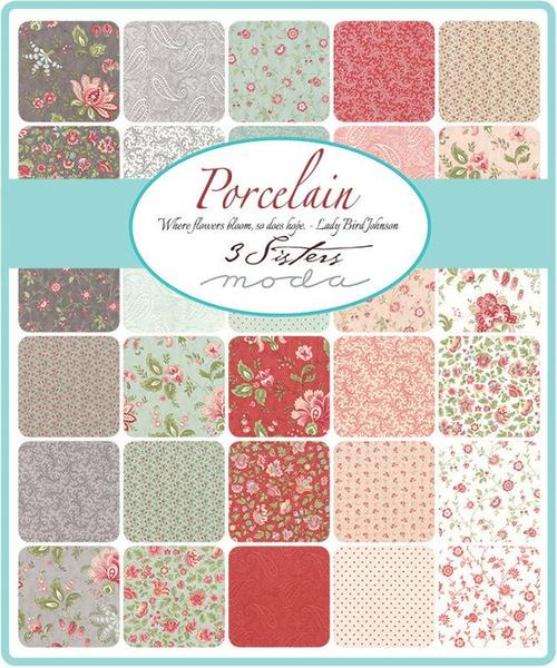 Porcelain by 3 Sisters - Rosebuds in Mist (44195-14)