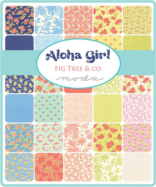 Aloha Girl by Fig Tree - Luau Medallions in Hibiscus Panel (20240-14)